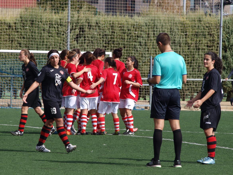 El León FF celebra un gol la pasada campaña. | Foto: Alexis Fernández.
